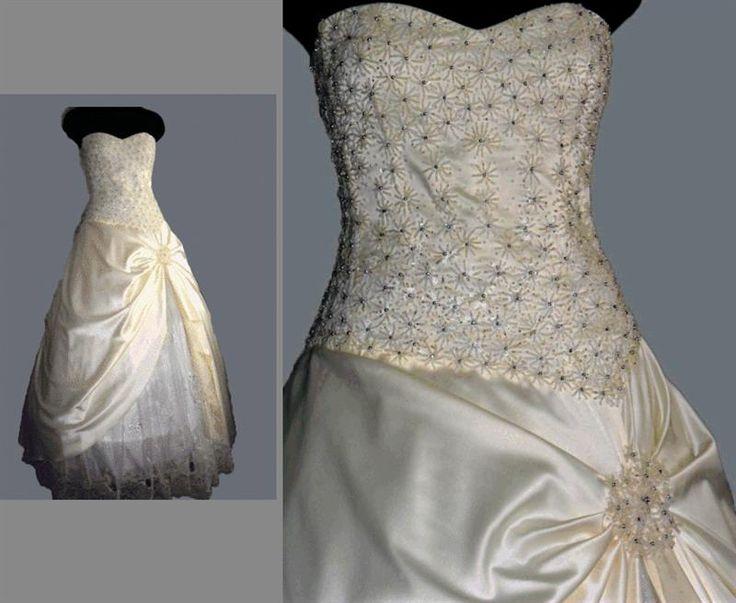 Свадебная вышивка на платье