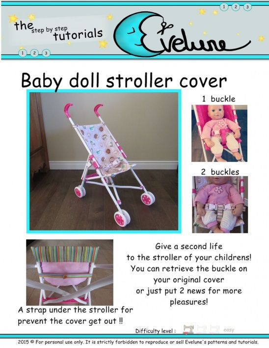 Free !! Baby doll stroller cover | Supply | Patterns | Kollabora