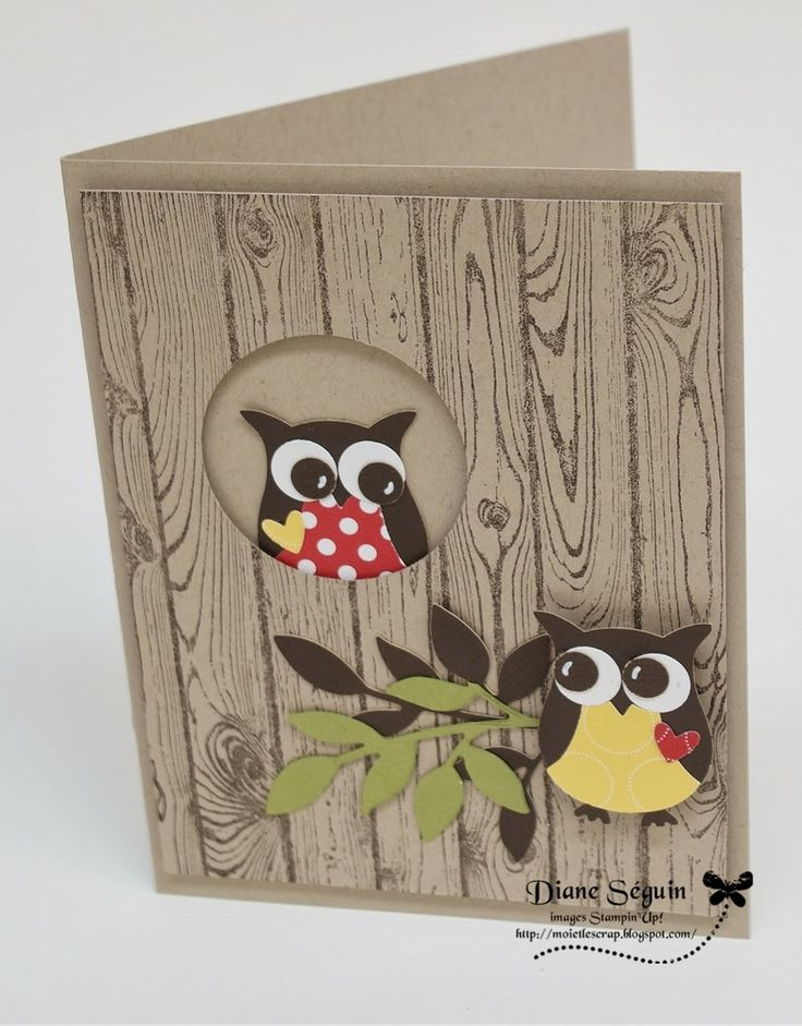Owl stampin up Plus