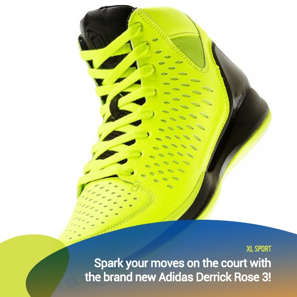 Light up the court with the brand new Adidas Derrick Rose 3!