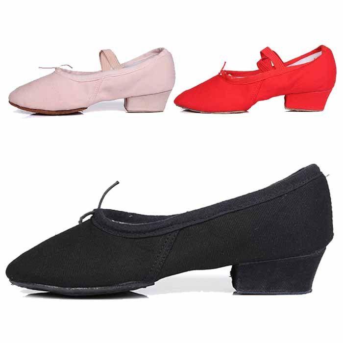2016 Brand New Кожа/Холст Балет Танцевальная Обувь для Дамы/Девушки/Обувь Для Бальных Танцев/Сальса Танго танцевальная Обувь 6 цвета