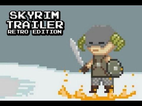 I'd play it still xD -- Skyrim Trailer - Retro Edition