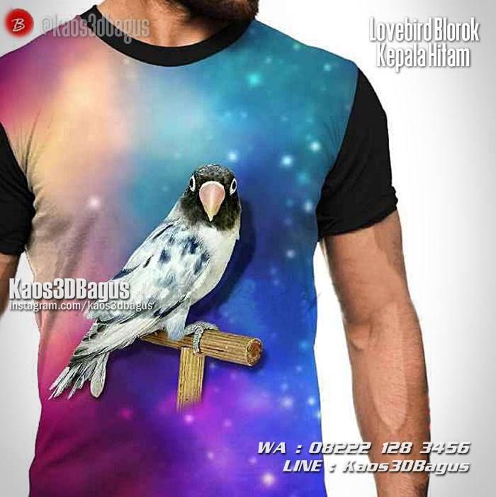 Kaos BURUNG, Kaos LOVEBIRD, Kaos3D, Lovebird Blorok Kepala Hitam, Kaos Kicau Mania, Kaos Gambar Lovebird, Pusat Kaos Burung, Kaos 3 Dimensi Gambar Burung, https://kaos3dbagus.wordpress.com, WA : 08222 128 3456, LINE : Kaos3DBagus