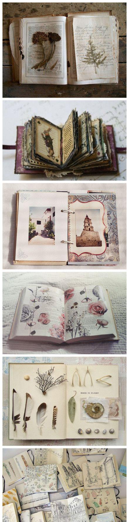 journal? réaffectation de vieilles choses? > trouver des vieux livres de poésie