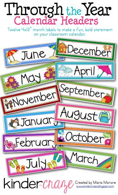 Kinder-Craze: A Kindergarten Blog: A Sweet and Simple Classroom Calendar