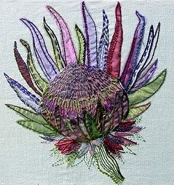 Protea Exotic Flower Textile Embroidery Kit 0143