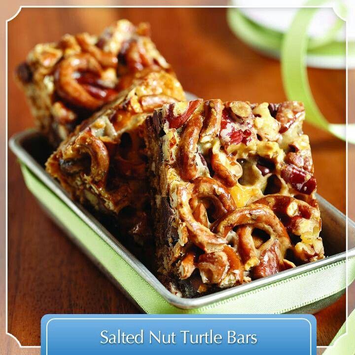 Salted nut turtle bar | Desserts | Pinterest