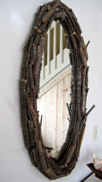 Cottage Glamour: Repurposed Twig Mirror