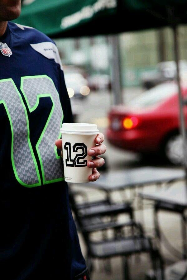 Starbucks coffee for 12¢ when you wear Seahawks gear!!!!