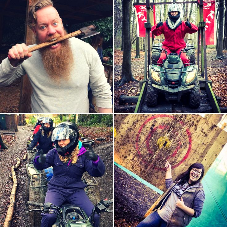 Quad Biking & Axe Throwing - £59 Quad Biking  Powerful, easy to handle and great fun to ride  Our 70 acre forest track includes hill climbs, fast straights, technical corners and much more! Axe Throwing ⚒ This unique, exciting and 'Cutting Edge' activity is packed full of fun games, competitions and leaves you feeling like a Viking!  This Amazing Offer is available at our Hazlewood Castle venue near Leeds.