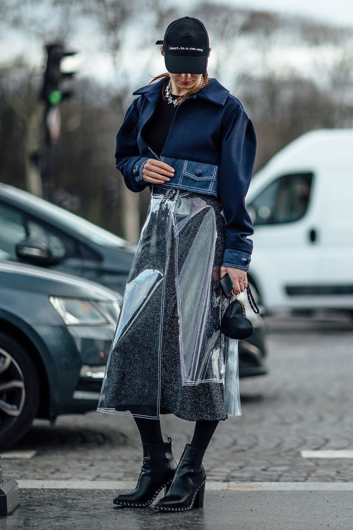 vinyl top layer skirt.
