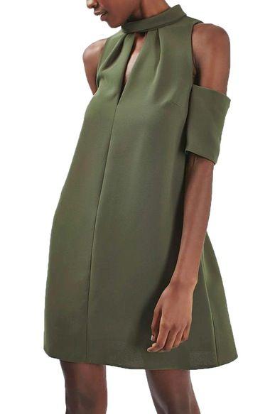 Topshop Cold Shoulder Keyhole Dress available at #Nordstrom
