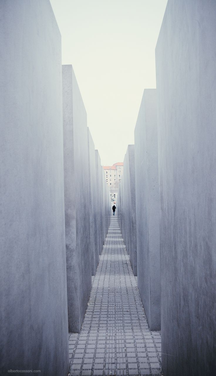 The Holocaust Memorial. Berlin, Germany - December 2014