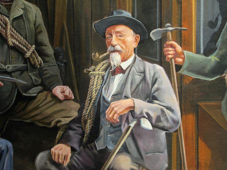Michel Payot, guide-blacksmith - The Chamonix guides by Patrick Commecy & A.Fresco (Chamonix-Mont-Blanc, France)