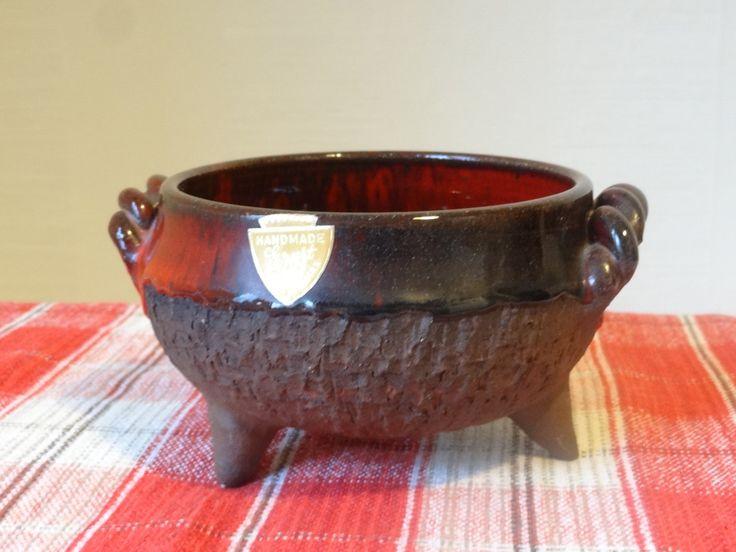 Ernst Faxe Nielsen - Denmark Studio Art Pottery Midcentury Decorative Ceramics Glaze Fat Lava Tray, Jar, Bowl, Danish Design, Retro Handmade by OlgaVintageStore on Etsy