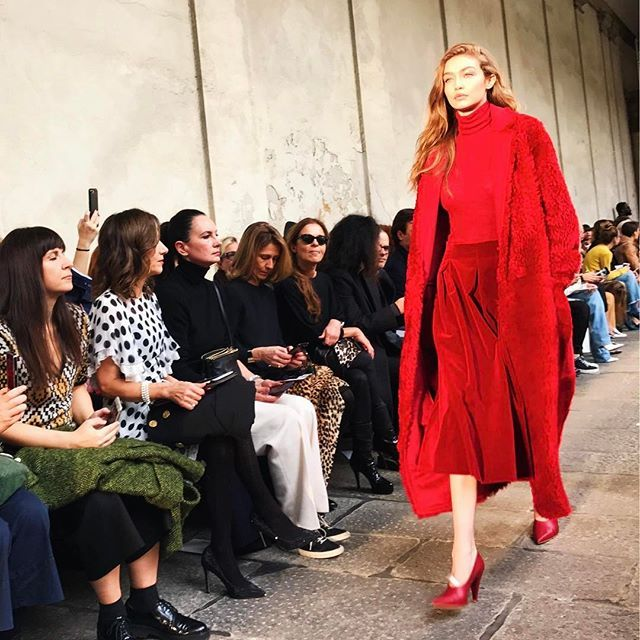 @maxmara #FW17 was all about textures like @gigihadid in this red on red on red: teddy bear velvet and cashmere all in one. #milanfashionweek #ellemyrunway #gigihadid #maxmara  via ELLE MALAYSIA MAGAZINE OFFICIAL INSTAGRAM - Fashion Campaigns  Haute Couture  Advertising  Editorial Photography  Magazine Cover Designs  Supermodels  Runway Models