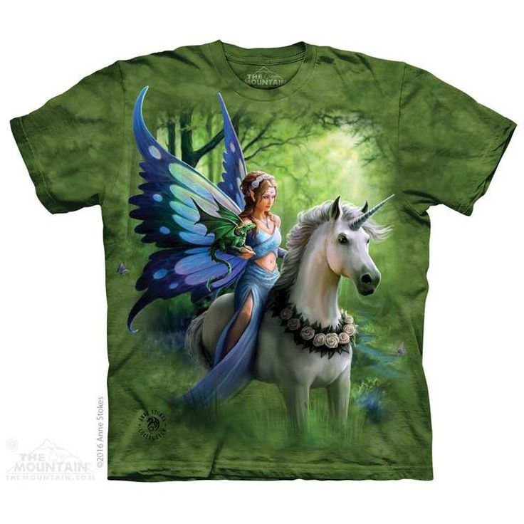 Realm of Enchantment T-shirt by Anne Stokes - #themountain #tams