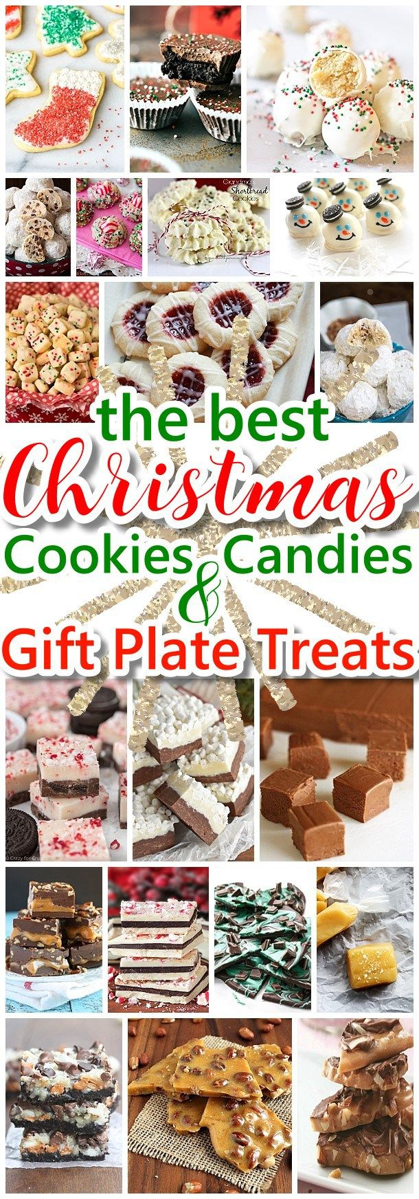 The BEST Christmas Cookies, Fudge, Candy, Barks and Brittles Recipes - Favorites for Holiday Treats Gift Plates and Goodies Bags! - Dreaming in DIY