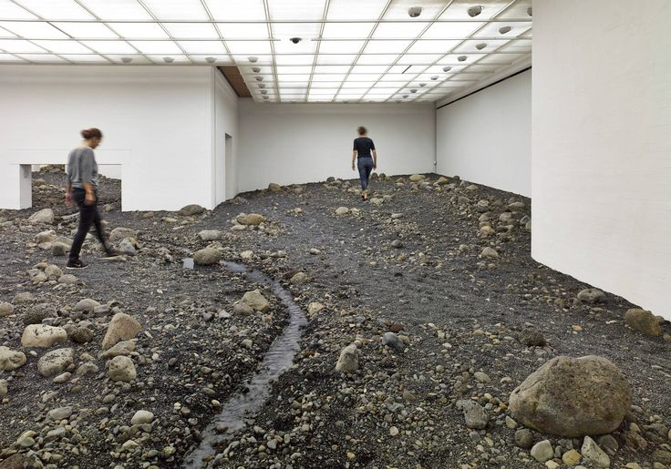 Olafur Eliasson cria um leito fluvial no Museu Dinamarquês