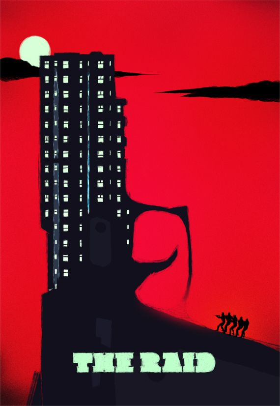 1. THE RAID BY ROCCO MALATESTA  The 10 Best Alternative Film Posters Of 2012 - Films - ShortList Magazine