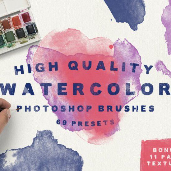 In this collection, we have handpicked 25 free watercolor brush sets to use in your designs.