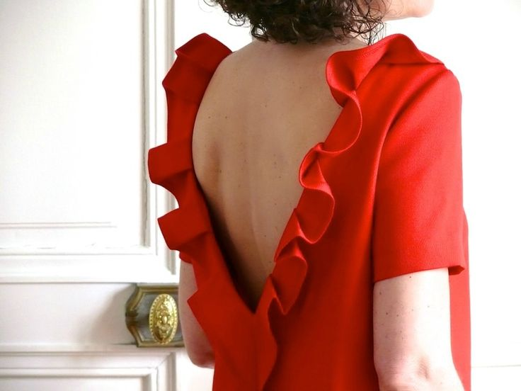 La petite robe rouge - Patron Burda modifié