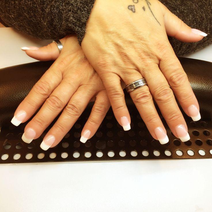 Acrylic long nails.