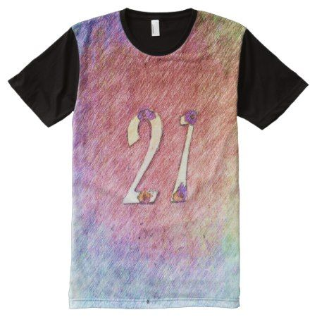 number 21 All-Over-Print shirt - tap, personalize, buy right now!