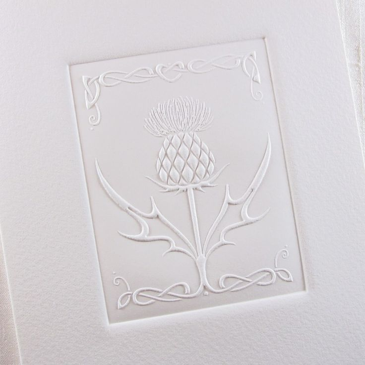 Captivating Classic Embossed Celtic Thistle Design By Sarah Ou0027Neill Designs £2.95. Embossed  Wedding InvitationsWedding ...