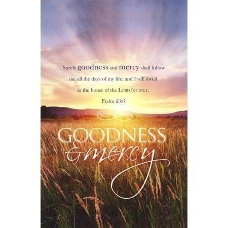 Funeral - Goodness and Mercy (Psalm 23:6, KJV) Bulletins, 100