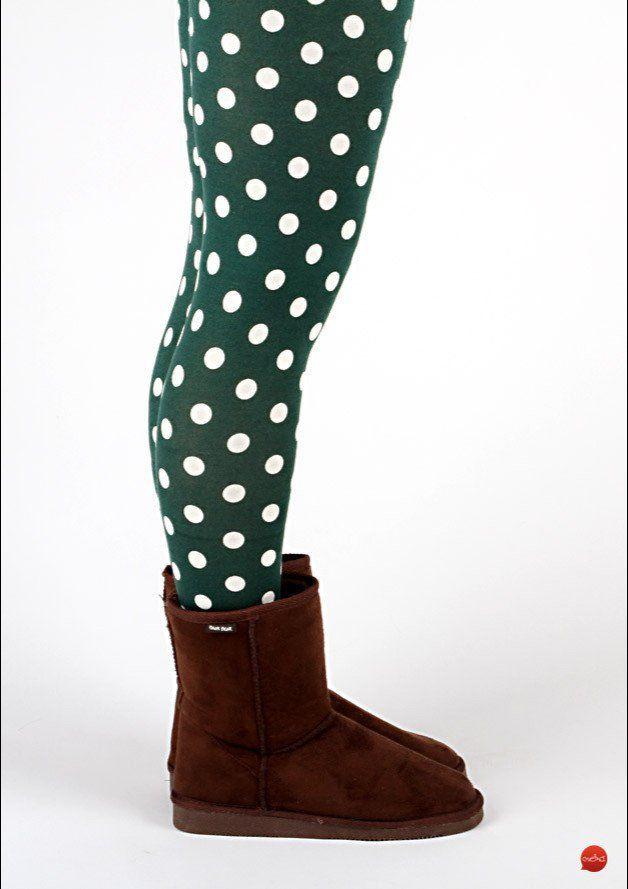 """Leggings - MEKO Leggings Punkte Grün Damen """"Eggi"""" - ein Designerstück von meko bei DaWanda"""