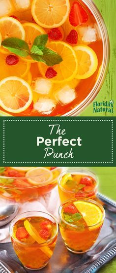 This refreshing and citrus-y non-alcoholic drink will have party guests gathering around the punch bowl all night long.