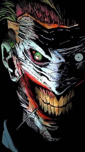 Ripped off face The Joker Wallpaper