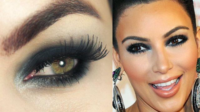 Tutorial – olho preto petróleo inspirado em Kim Kardashian   Kim Kardashian inspired