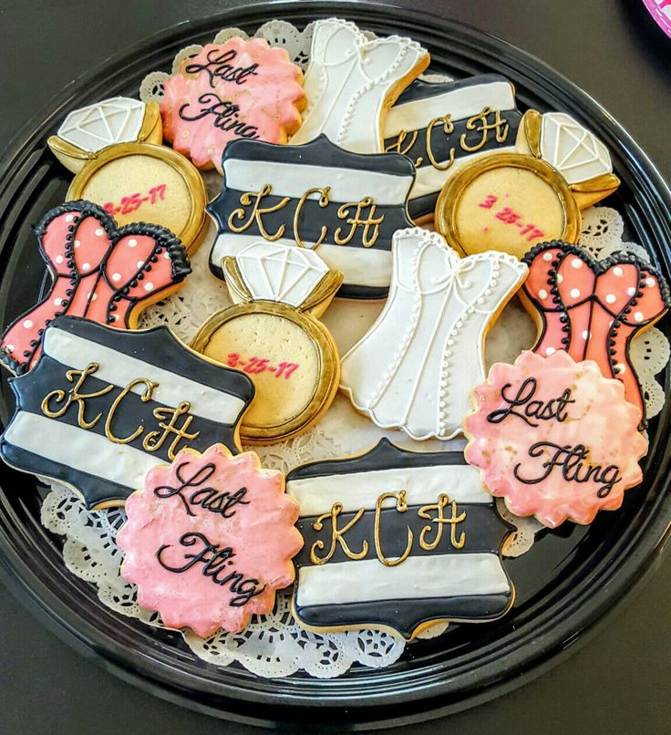 Bread Winners Uptown Dallas did an amazing job with these Bachelorette party cookies! #breadwinners