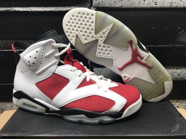 Authentic Nike Air Jordan Retro VI 6 Carmine 384664-160 Size 11 5 66b430db85