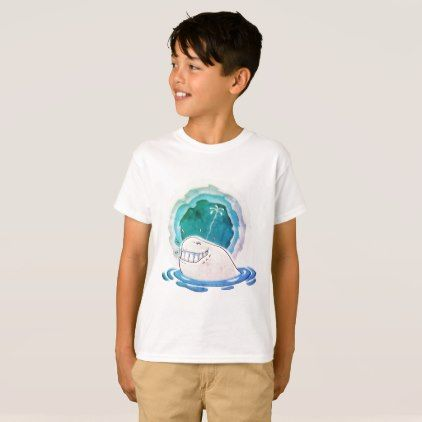 white whale water spraying funny cartoon T-Shirt - animal gift ideas animals and pets diy customize