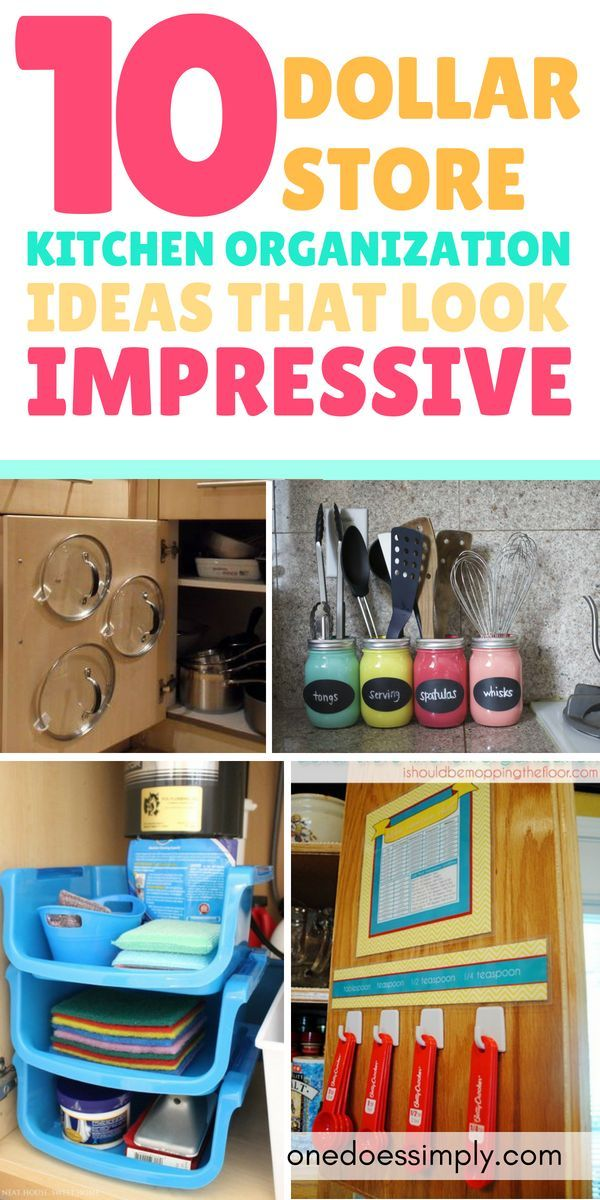 10 Dollar Store Organization Ideas For Your Kitchen Dollar Tree