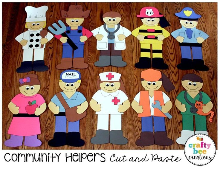 These fun cut and paste patterns are a great addition to any community helper unit. Just print, cut, and glue!