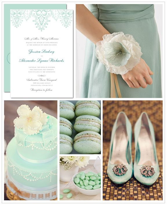Love this #Mint Wedding Inspiration Board - see more of this trend at this Pinterest board