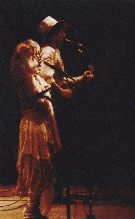 Stevie Nicks and Lindsey Buckingham. My favorite rock couple of all time.