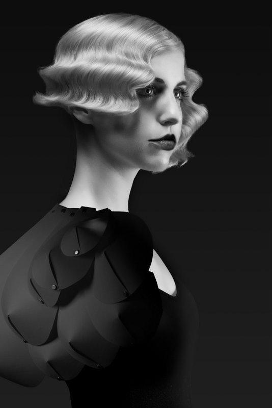 Winners and Finalists :: North American Hairstyling Awards, vintage waves & modern asymmetrical cut
