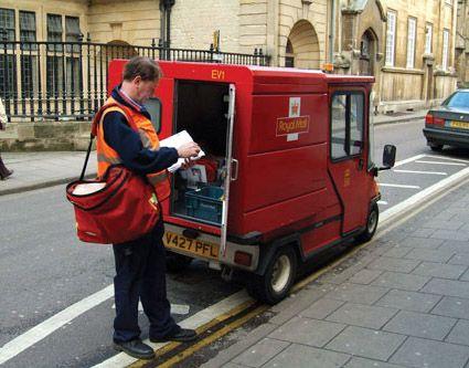Bradshaw Carrryall electric postal van with British Royal Mail
