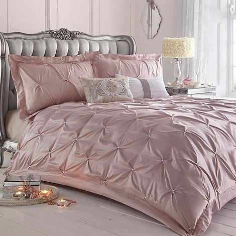 Star By Julien Macdonald Pink Ruched Rosette Bed Linen