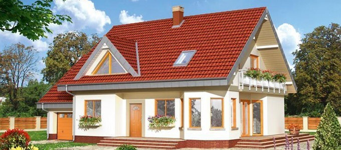 Casa de locuit cu personalitate si cu o arhitectura deosebita, proiectata pe doua niveluri: parter si etaj mansardat, avand acoperis cu doua versante si garaj pentru un autovehicul.  Detalii proiect: http://www.caselemnbarat.ro/2013/proiect-casa-lemn-model-09/
