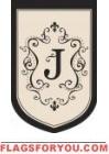 """Monogram """"J"""" Estate Flag - 2 left"""