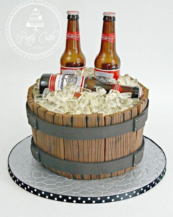 Sensational Beer Barrel Birthday Cake Budweiser Beer Barrel Cake Funny Birthday Cards Online Sheoxdamsfinfo