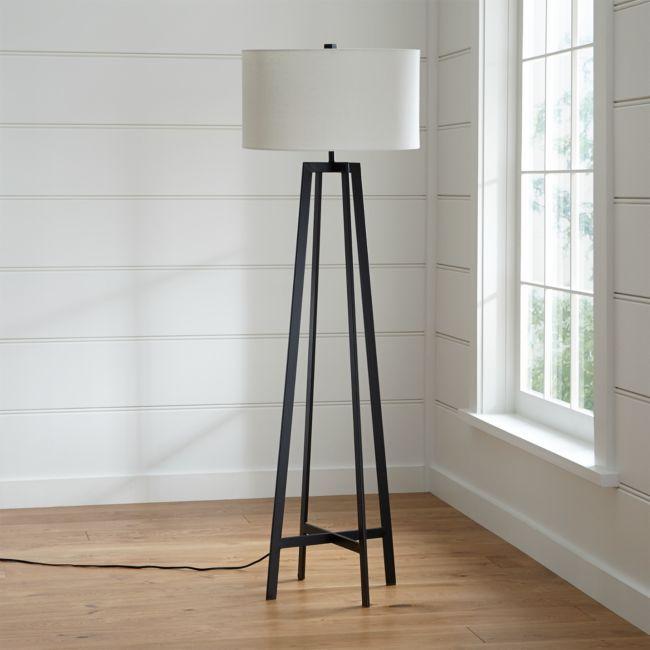 Castillo Black Floor Lamp In 2020 White Floor Lamp Black Floor