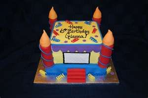 Bounce House Cake...real bounce houses at www.astrojump.com