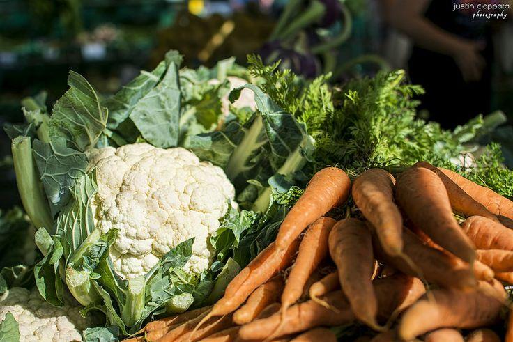 Cauliflowers and Carrots at Ta' Qali Farmers' Market